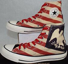 New RARE Mens 7 CONVERSE CT Hi Black Fire Brick Shoes  60 144677F Stars  Stripe 3a57637c5