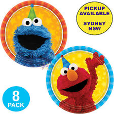 SESAME STREET BIRTHDAY PARTY SUPPLIES 8 PACK ELMO COOKIE MONSTER SMALL PLATES