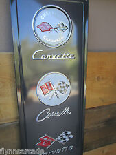 Chevrolet Corvette Metal Display C2 Emblems Flags vette GM Chevy Man cave vette