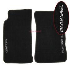 Fits 90-97 Mazda Miata MX5 Black Nylon Floor Mats Carpet W/Mazdaspeed Embroidery
