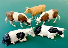 Vintage Britains Mixed Cattle Cows x5