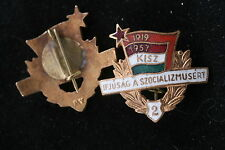 Hungary Hungarian Badge Pin KISZ member 1957 Level 2 Communist Union Youth