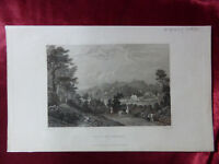 Antique engraving VIEW of WOOTTON BRIDGE, ISLE OF WIGHT c1830 Veduta art print