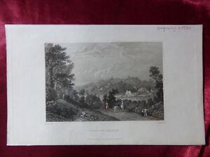 Antique engraving VIEW of WOOTTON BRIDGE, ISLE OF WIGHT c1830 Veduta art print