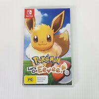 LET'S GO EEVEE! Pokemon Nintendo Switch Game NEW - Aus Seller