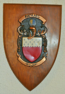 Michael family plaque shield crest coat of arms