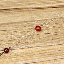 30X Beading Needles Threading Cord Tool DIY Jewelry Stainless Steel 0.6*120 mmHG