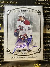 Jacob De La Rose 15-16 Champ's Hockey Rookie Signature Autograph