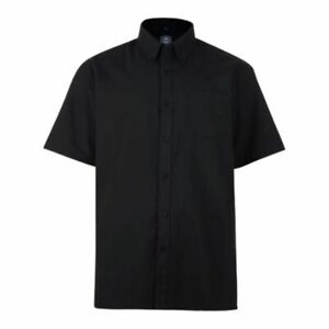 Hemd Kurzarm Übergröße 4XL,5XL,6XL,7XL,8XL Button Down Kragen schwarz