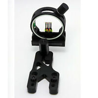 """Archery Optic Sight 5 Pins Bow Sights 0.029"""" Fiber for Compound Bow Ambidextrous"""