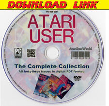 ATARI USER Magazine Collection DOWNLOAD ALL ISSUES XL/XE/ST/400/800/2600 Games