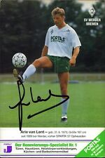 Arie van Lent NDL - Werder Bremen - Fußball Origi. Autogramm Autograph (K-8219