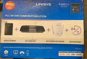 Linksys All-in-One Home Wi-Fi Bundle: Cable Modem + AC1600 Router + Extender