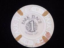 $1 Bally's Park Place Casino Atlantic City NJ Gambling Poker Chip Retired
