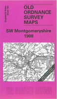 Old Ordnance Survey Map South West Montgomeryshire 1908 - Wales Sheet 164