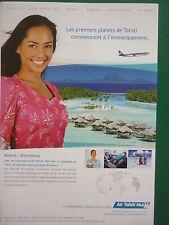 2011 PUB AIR TAHITI NUI TIARE PACIFIQUE VAHINE AIRBUS A340-300 AIRLINE FRENCH AD