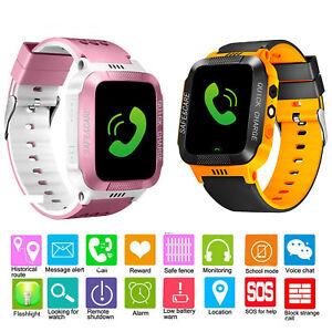 Kinder Smartwatch GPS Tracker Uhr SIM SOS Kids Telefonuhr Armbanduhr mit Kamera