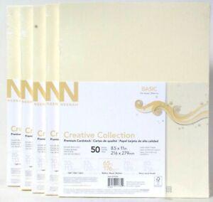 5 Packs Neenah Basic Creative Collection 8.5 X 11 Inch 50 Ct Premium Card Stock
