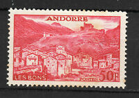 Andorra ( French Post ) : 1955 50 Francs ( Landscapes ) New ( MH )