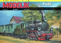 ORIGINAL PAPER-CARD MODEL KIT - Narrow-gauge steam locomotive Px48