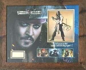 Johnny Depp Signed Pirates of The Caribbean  AFTAL RD