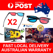 2pcs Anaglyph Red Blue Cyan 3D Glasses for PC LCD TV Gaming Stereoscopic Movies