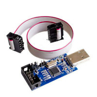 NEW USB ISP Programmer AVR ATMEL ATMega8 Download Pin IDC Cable 3.3V 5V New GAN