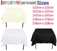 Square Polyester Tablecloth Table Cloth Cover Wedding Party Picnics Tableware