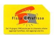 SCHEDA TELEFONICA TELECOM - FISSA IL PREFISSO