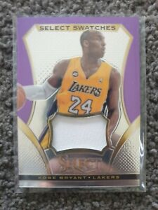 2013-14 Panini Select Swatches Kobe Bryant #96 Game-Worn Jersey Relic Lakers