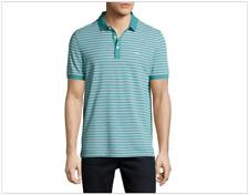 NWT Michael Kors BIRDSEYE knit Stripe Polo Shirt, Lagoon Blue XL, retail