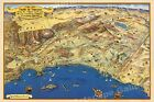 1953 Roads to Romance Southern California Old Map - 24x36