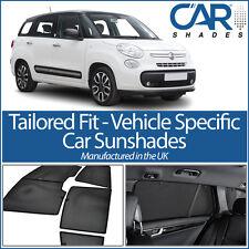 Fiat 500L MPW 5dr 2012> UV CAR SHADES WINDOW SUN BLINDS PRIVACY GLASS TINT BLACK