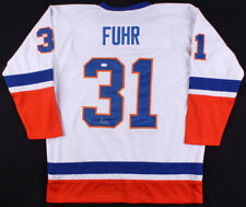 Grant Fuhr Signed Edmonton Oilers Jersey (JSA Hologram) Ready for Framing