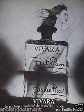 PUBLICITÉ 1970 PARFUM VIVARA EMILIO PUCCI PARFUM ENSOLEILLÉ - ADVERTISING