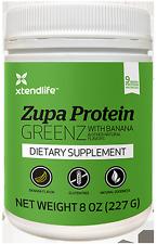 Xtendlife Zupa Protein GREENZ with Banana - 8 oz powder