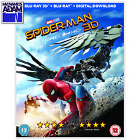 SPIDER-MAN HOMECOMING Blu-ray 3D + 2D (REGION-FREE)