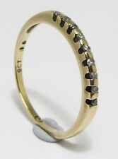 100% Genuine Vintage 9K Solid Yellow Gold 0.045cts Diamond Eternity Ring Sz 6.5