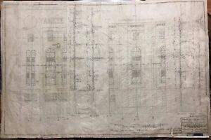 "1927 YANKEE STADIUM REPRODUCTION ELEVATION BLUEPRINT NEW YORK 24""X36"""