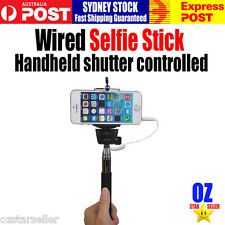 Wired Selfie Stick Phone Camera Monopod Handheld shutter controlled IOS Android