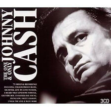 Johnny Cash ~ ONE & ONLY NEW SEALED 3CD FOLSOM PRISON BLUES, I WALK THE LINE ETC