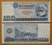 German Democratic Republic Banknote 100 Mark Karl Marx 1975 UNC