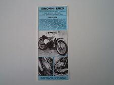advertising Pubblicità 1972 MOTO SIMONINI CROSS