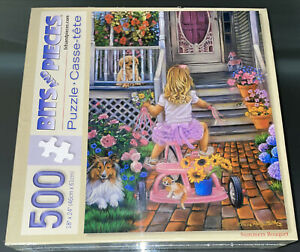 NEW SEALED Bits & Pieces Summers Bouquet 500 Piece Jigsaw Puzzle Tricia Matthews
