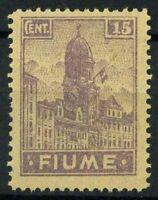 Fiume 1919 Sass. A36 zwe Nuovo ** 100% Allegorie e vedute