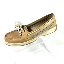 Sperry Top Sider Angelfish Women's Boat Shoes Tan Leather Size 7 M