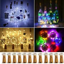 20LED Wine Bottle Fairy String Lights Battery Cork Shaped Festival Wedding Party