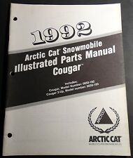 1992 ARCTIC CAT SNOWMOBILE COUGAR P/N 2254-744 PARTS MANUAL (122)