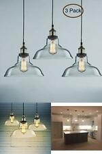 Glass Kitchen Lights 3 Hanging Pendant Lighting Dining Room Hand Blown Ceiling