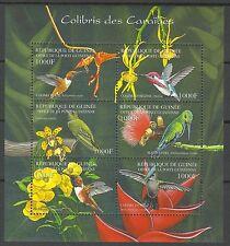 Guinee Guinea Oiseaux Colibris Hummingbirds Birds Kolibris Vogel ** 2001 + 30€